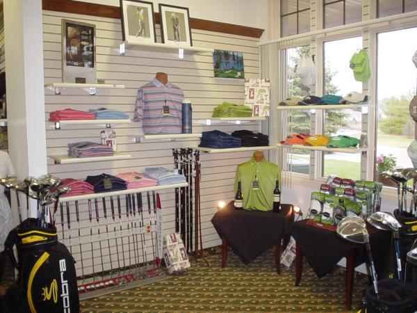 Interior view of the pro shop at Stonebridge